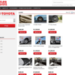 car delaer parts accessories ecommerce